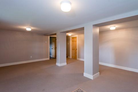 Full basement development in 100 year old home.
