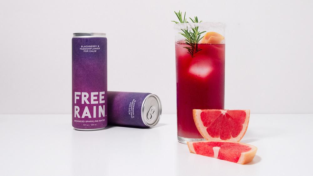 "FREE RAIN ""Classic Citrus-Herb Sparkle"" mocktail"