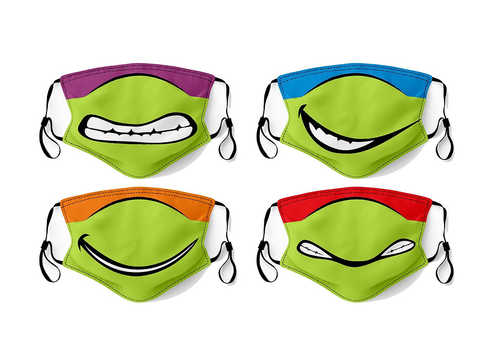 Ninja Turtles face masks