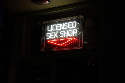 Sex shop neon sign