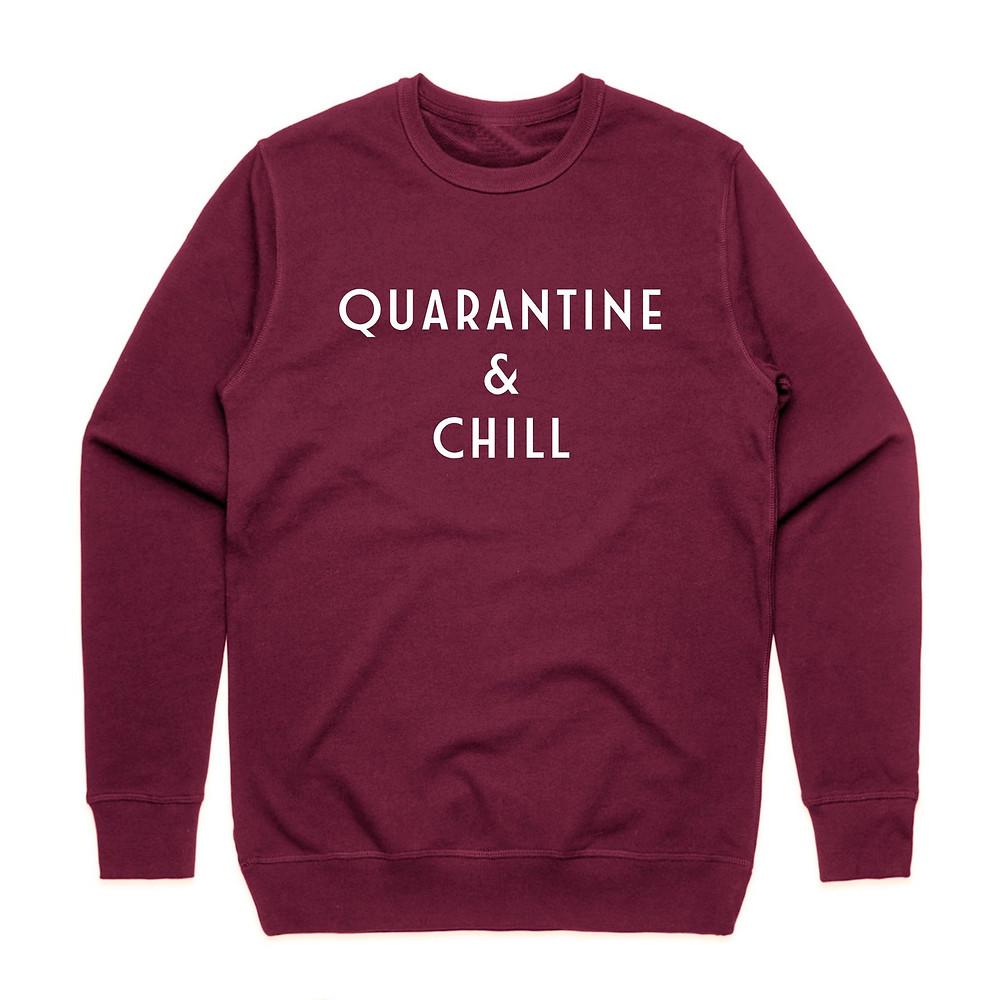 Netflix and chill maroon sweatshirt