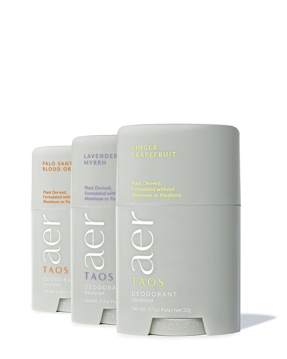 Mini natural deodorants