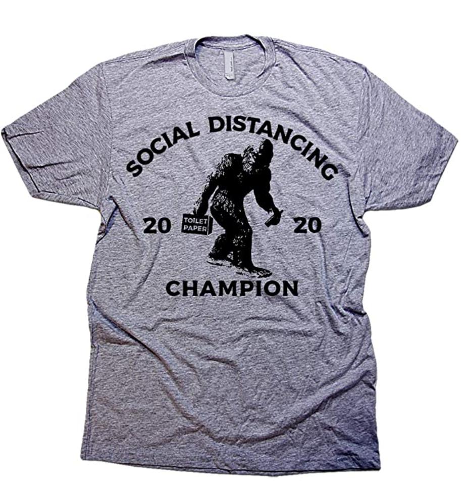 Sasquatch grey t-shirt