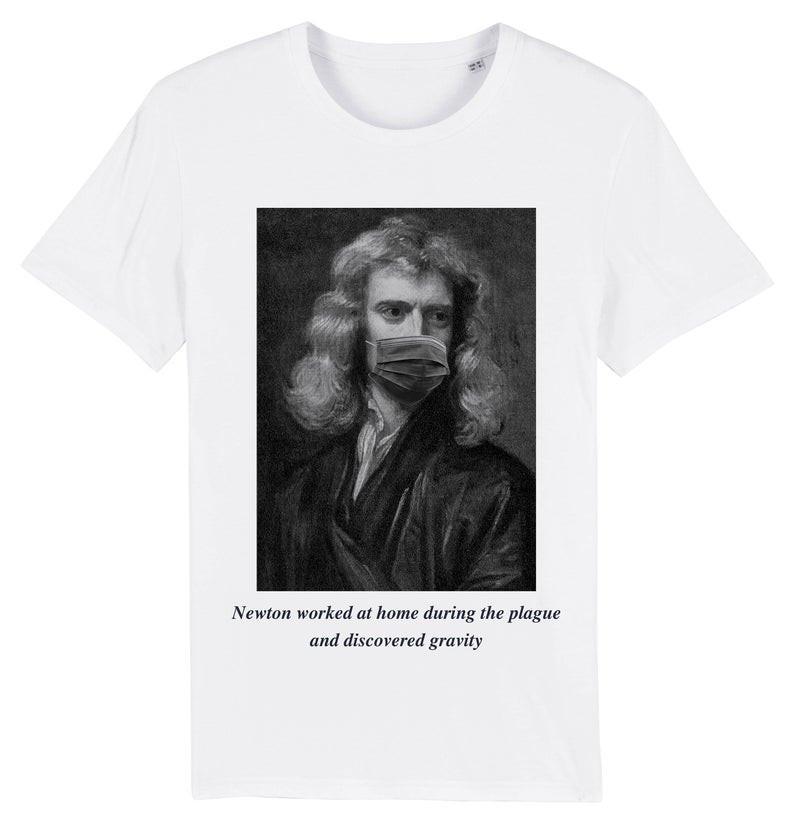 Issac Newton white t-shirt