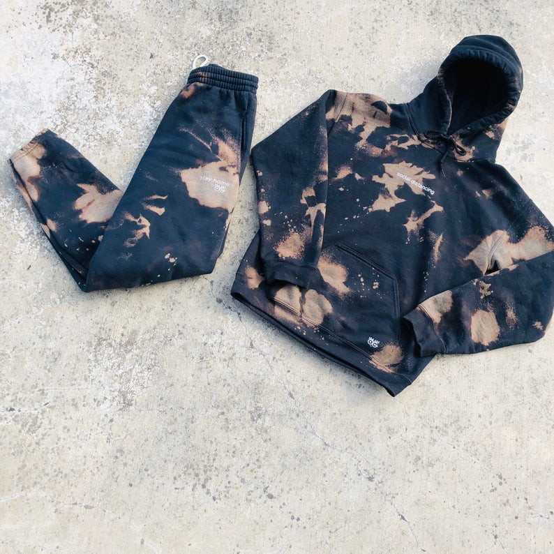 Stay home tie dye tracksuit