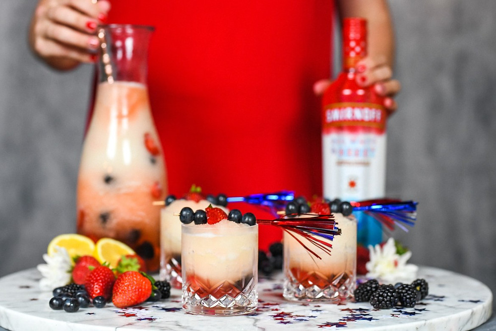 Patriotic cocktails