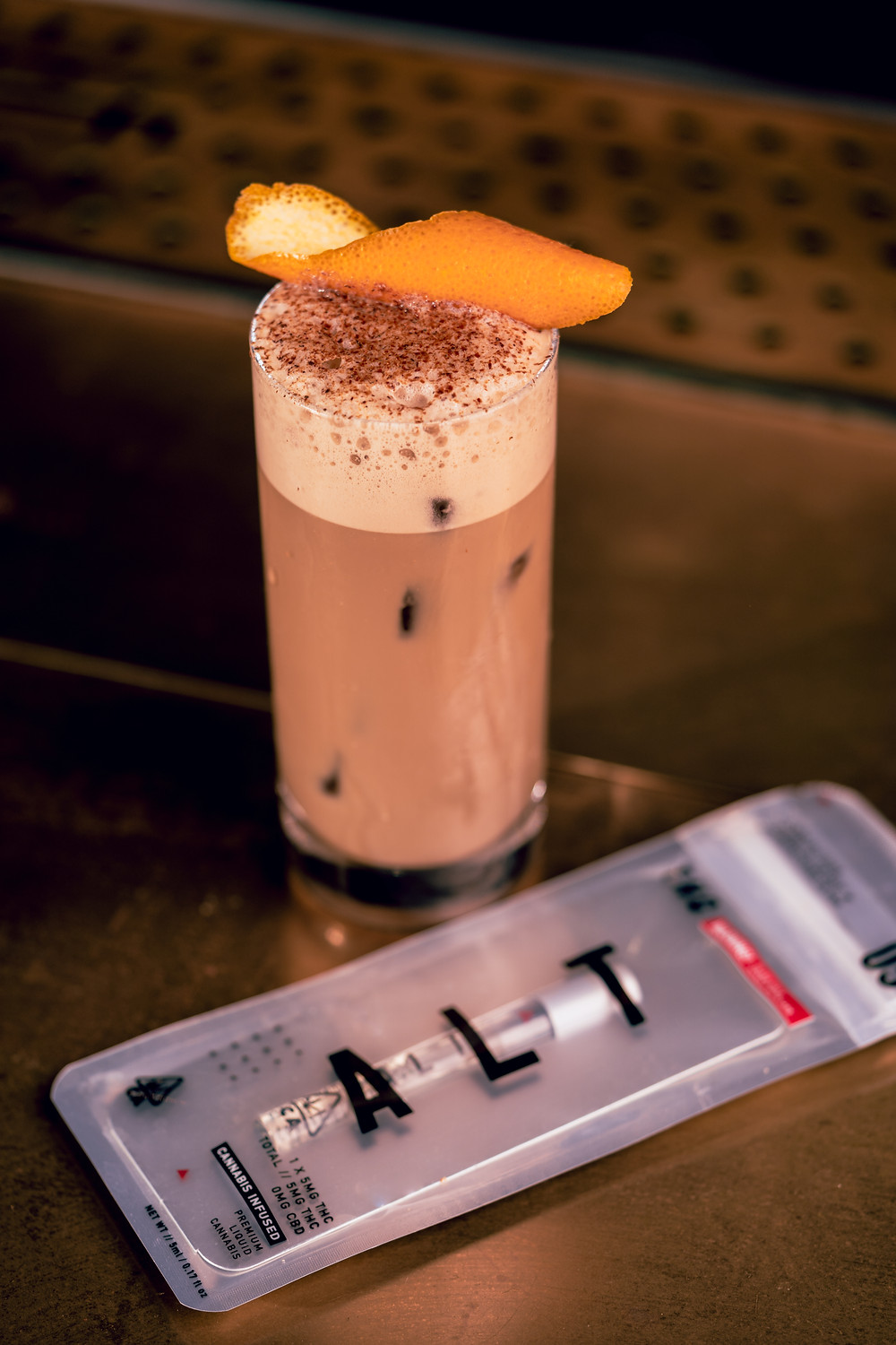 THC-infused coffee mocktail