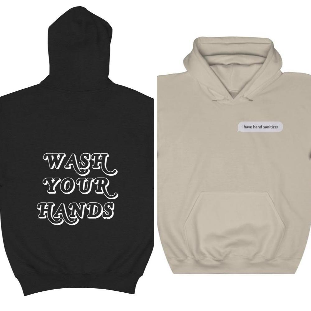Hand sanitizing hoodies