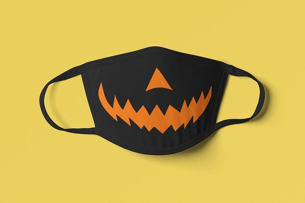 Jack-O'-Lantern Face Mask