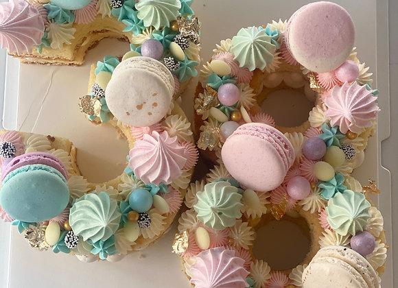 VANILLA NUMBER CAKE