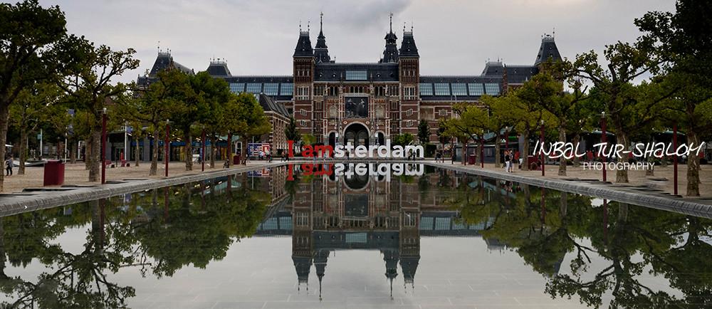 Rijksmuseum and museum square in Amsterdam