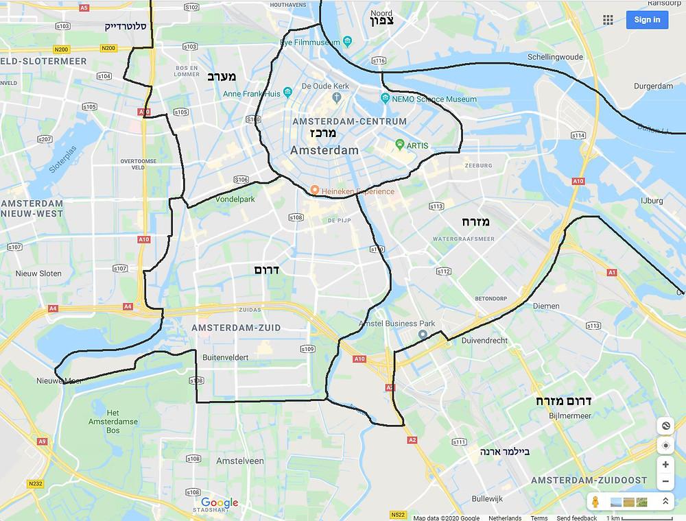 מפת אמסטרדם
