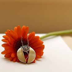 "Silver pendant ""Flower"""