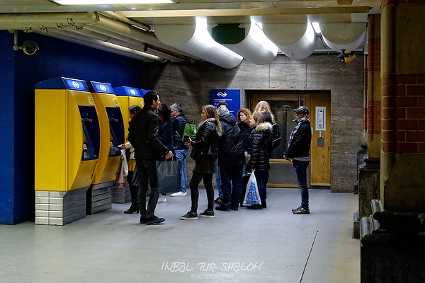 Public Transport tickets machines in Amsterdam centraal