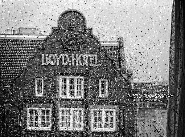 Lloyd hotel in Amsterdam when it rains