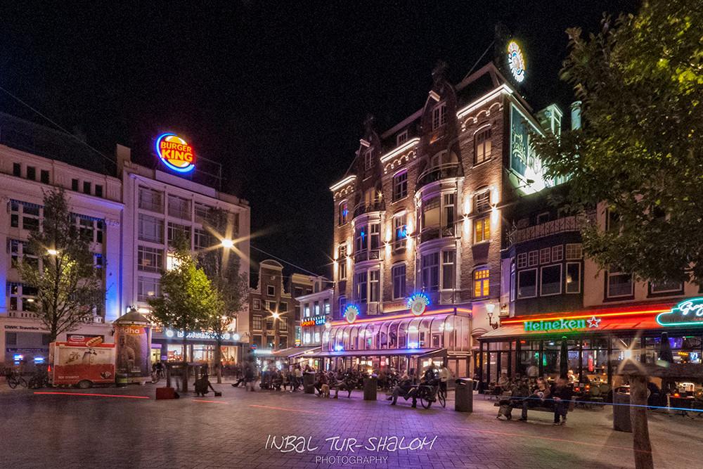 Leidseplein Amsterdam at night