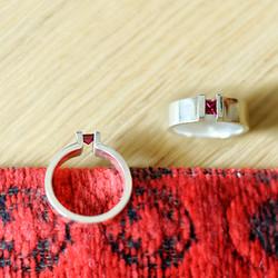 Zilveren ring (klemzetting)