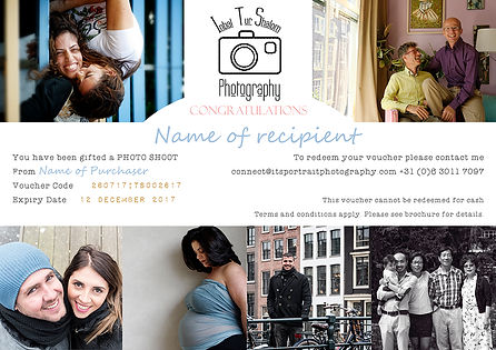 ITS Portrait Photography Gift Voucher Sample