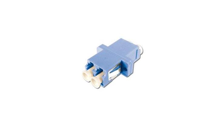 LinkIT Fiberadapter LC/LC duplex blå