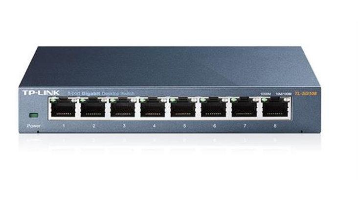 TP-LINK SG108 Switch, 8xGigabit, metal
