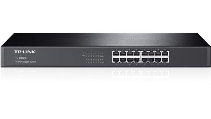 TP-LINK SG1016 Switch, 16xGigabit, rackm