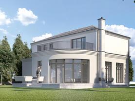 DOM JEDNORODZINNY - klasycznie elegancki dom jednorodzinny