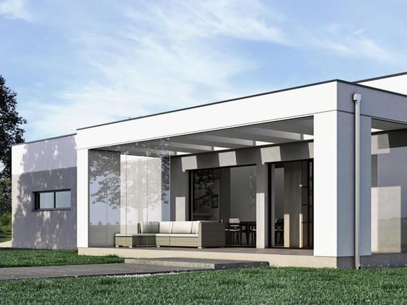 DOM JEDNORODZINNY - nowoczesny dom o prostej bryle