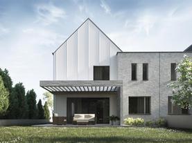 DOM JEDNORODZINNY - miejski dom dwulokalowy