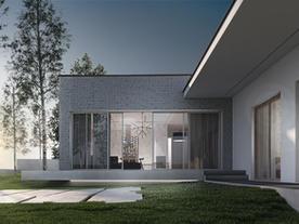 DOM JEDNORODZINNY - minimalistyczny dom jednorodzinny