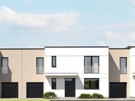 DOM JEDNORODZINNY - trzy domy w zabudowie szeregowej