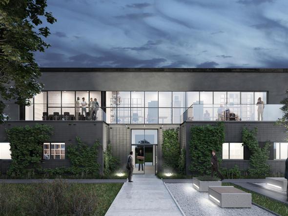 BUDYNEK BIUROWY - przebudowa budynku technicznego