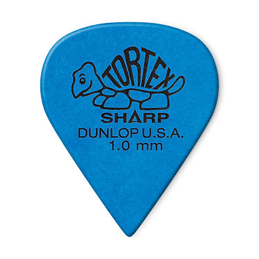 Dunlop 412P Tortex Sharp Guitar Pick 1.00 mm FrontView
