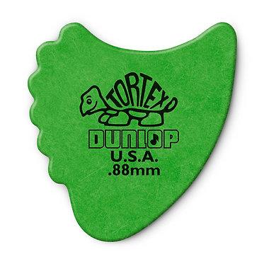 Dunlop 414R Tortex Fin Guitar Pick 0.88mm FrontView