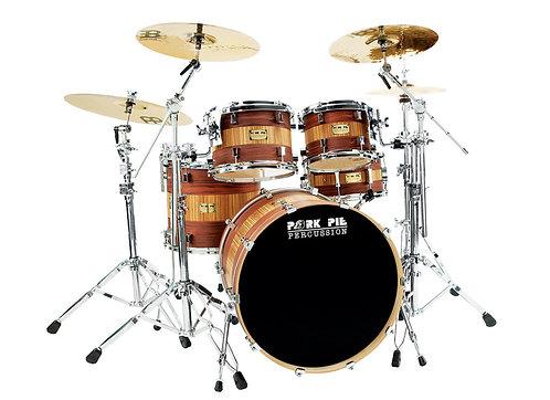 Pork Pie USA Custom Drum Kit - Rosewood Zebrawood 4 Pieces