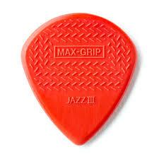 Dunlop Maximum Grip Jazz III-Nylon Guitar Pick FrontView