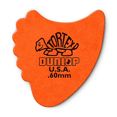 Dunlop 414R Tortex Fin Guitar Pick 0.60 mm FrontView