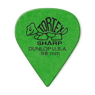 Dunlop 412P Tortex Sharp Guitar Pick 0.88 mm FrontView