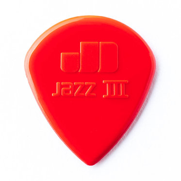Dunlop 471R3N  Max-Grip Jazz III Nylon Guitar Pick FrontView