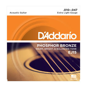 DA-EJ15 Phosphor Bronze Acoustic Guitar Strings_XLight-10-47-Front