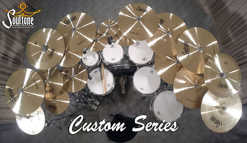 Soultone Custom Series Cymbals - All Top View
