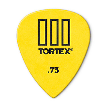 Dunlop 462R Tortex III Guitar Pick .73mm FrontView