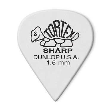 Dunlop 412P Tortex Sharp Guitar Pick 1.50 mm FrontView