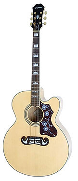 Epiphone EJ -200SCE-Super Jumbo Cutaway A/E Guitar-Natural