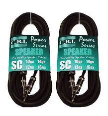 "CBI Speaker Cable with 1/4"" Nickel Connectors"