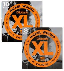 D'ADDARIO -X Nickel Round Wound - Regular Light Electric
