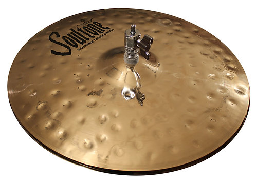 Soultone Heavy Hammered High Hat Cymbals Top View