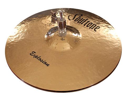 "Soultone Explosion Hi-Hat Cymbals -13"" Top View"