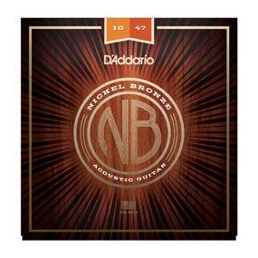 DA-NB-1047-Nickel Bronze Acoustic Guitar Strings-XLight-10-47-Front