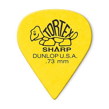 Dunlop 412P Tortex Sharp Guitar Pick 0.73mm FrontView