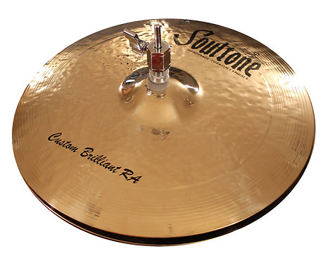Soultone Custom Brilliant RA Hi-Hat Cymbals Top View